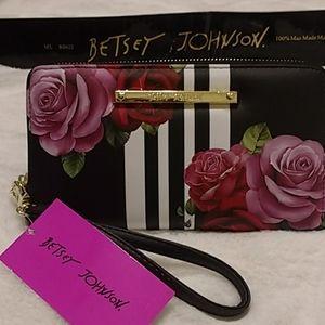 Betsey Johnson zip  around wallet/clutch